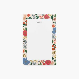 Rifle Paper Co. Blank Notepad: Wild Rose image