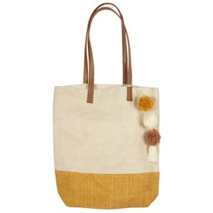 Two-Toned Jute Tote image