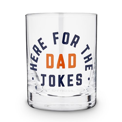Cocktail Glass: Here for the Dad Jokes image